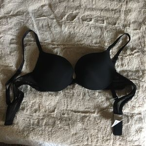 Calvin Klein black push up bra